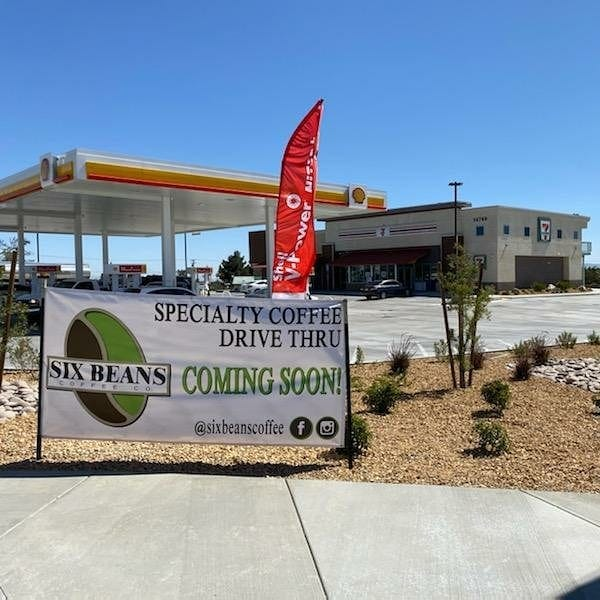 A new Six Beans Coffee shop will open next to 7-11 on the northeast corner of Ranchero Road and Seventh Avenue in Hesperia.