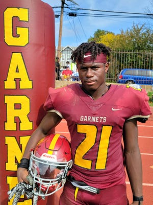 Haddon Heights sophomore Zyaire Goffney-Fleming is a running back on the 2020 Garnets football team.