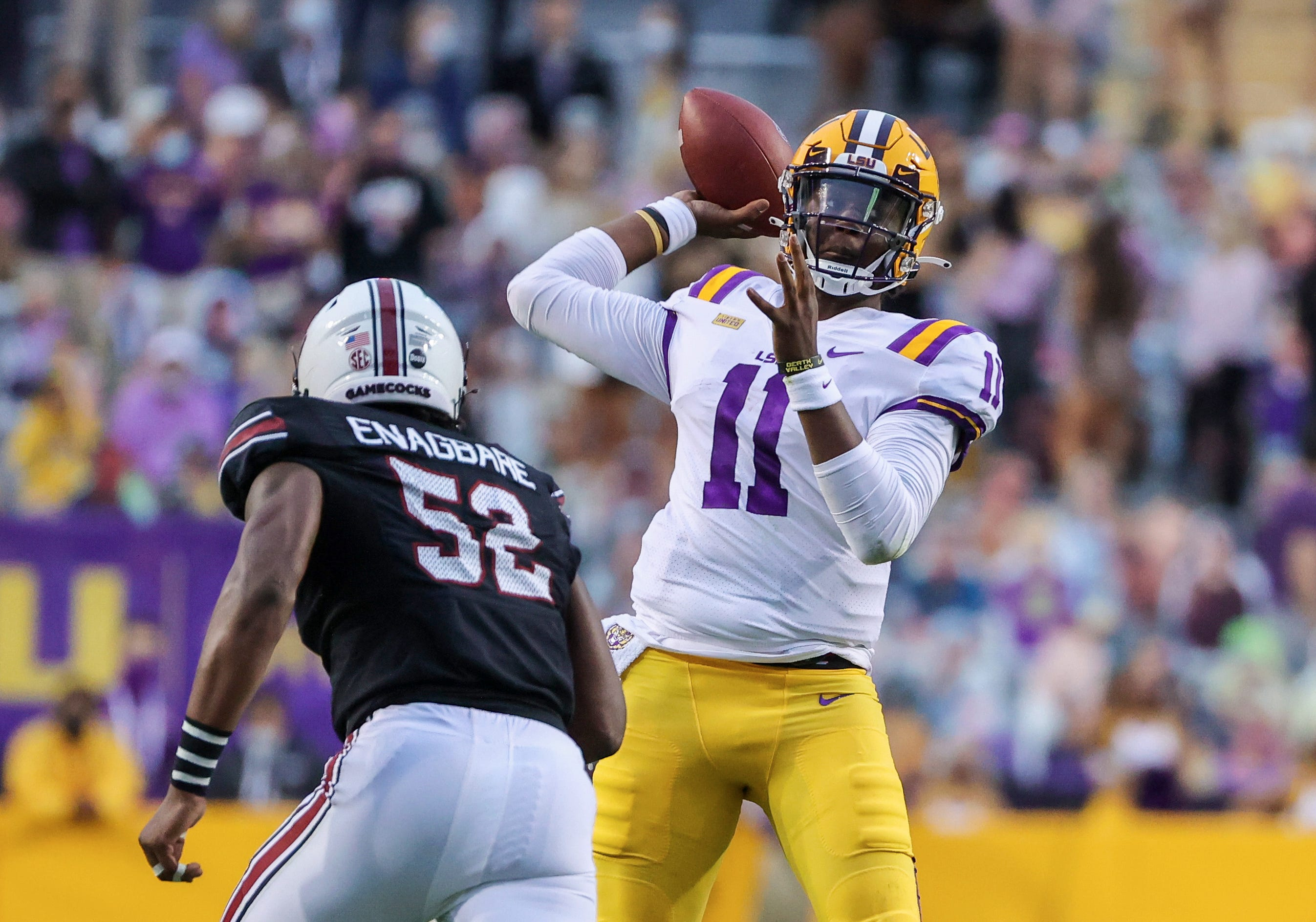 How one player losing 25 pounds amid coronavirus shutdown led to LSU's most significant football win this season