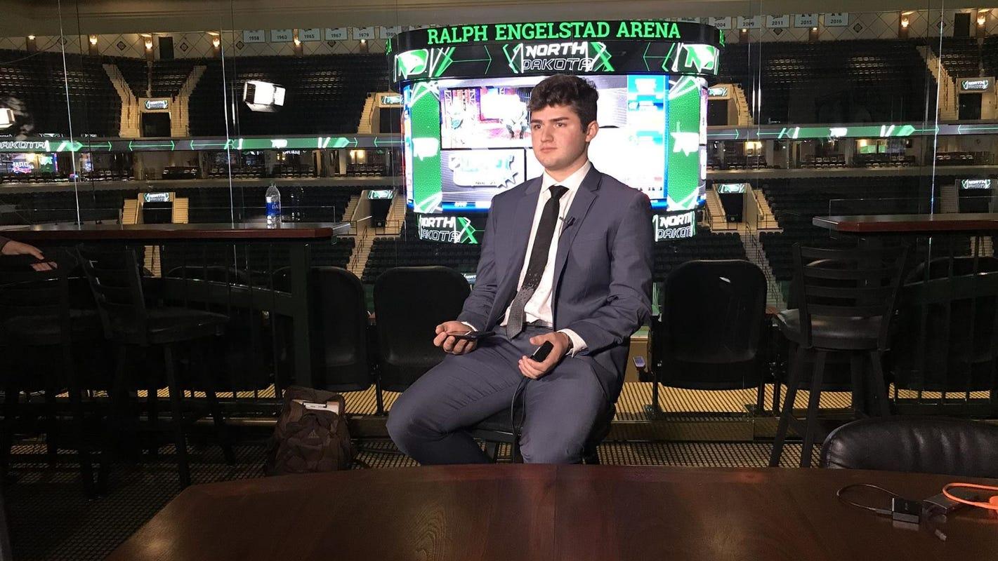 Former Arizona Coyotes draft pick Mitchell Miller no longer on North Dakota hockey team