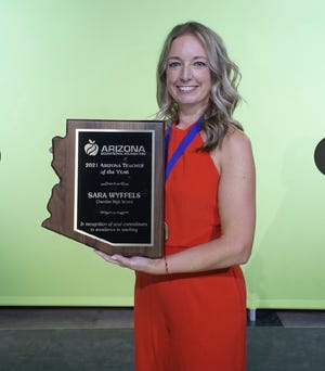Sara Wyffels, a Spanish teacher at Chandler High School, was named the 2021 Arizona Teacher of the Year on Friday, Oct. 23 during a virtual awards ceremony.
