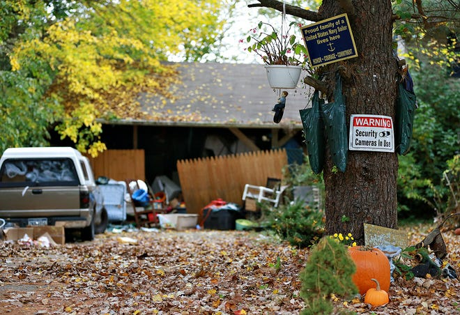 The home of Michelle Baldwin in West Manheim Township, Saturday, Oct. 24, 2020. Baldwin has been charged with 106 counts for alleged animal neglect and cruelty, as well as six counts of aggravated assault, one count of fleeing and eluding police, and two misdemeanor counts for simple assault, according to court documents. Dawn J. Sagert photo