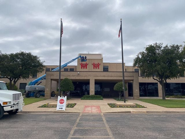 Signage at the former Community Medical Center was being updated Saturday as the facility was renamed Shannon South after the merger of the two hospital systems was finalized Friday, Oct. 23, 2020.
