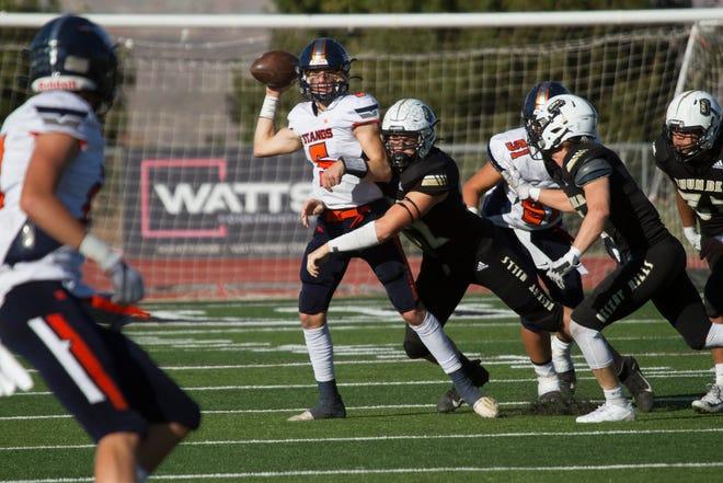 Desert Hills football defeats Mountain Crest High School 44-14 during the State Football Championships Friday, Oct. 23, 2020.