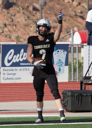 Desert Hills football defeats Mountain Crest High School 44-14 during the State Football Championships Friday, Oct. 23, 2020.