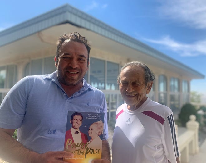 """Valentin Sandoval, left, has written a book on the life of Don Shapiro, right, """"Power at the Pass: The Don Shapiro Story."""""""