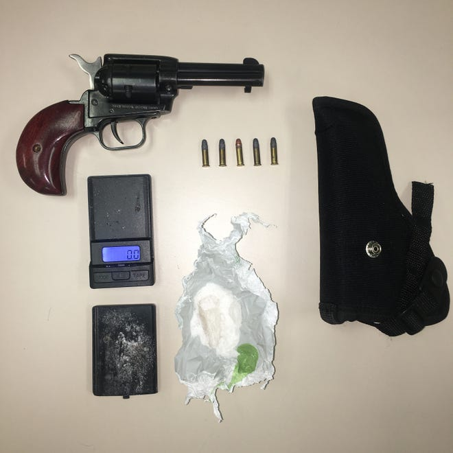 Deputies seized a firearm believed to have been stolen, ammunition and methamphetamine during an arrest on Thursday.