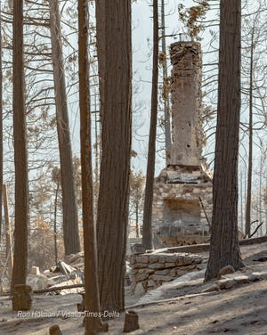 The SQF Complex Fire burned cabins in the Cedar Slope community.