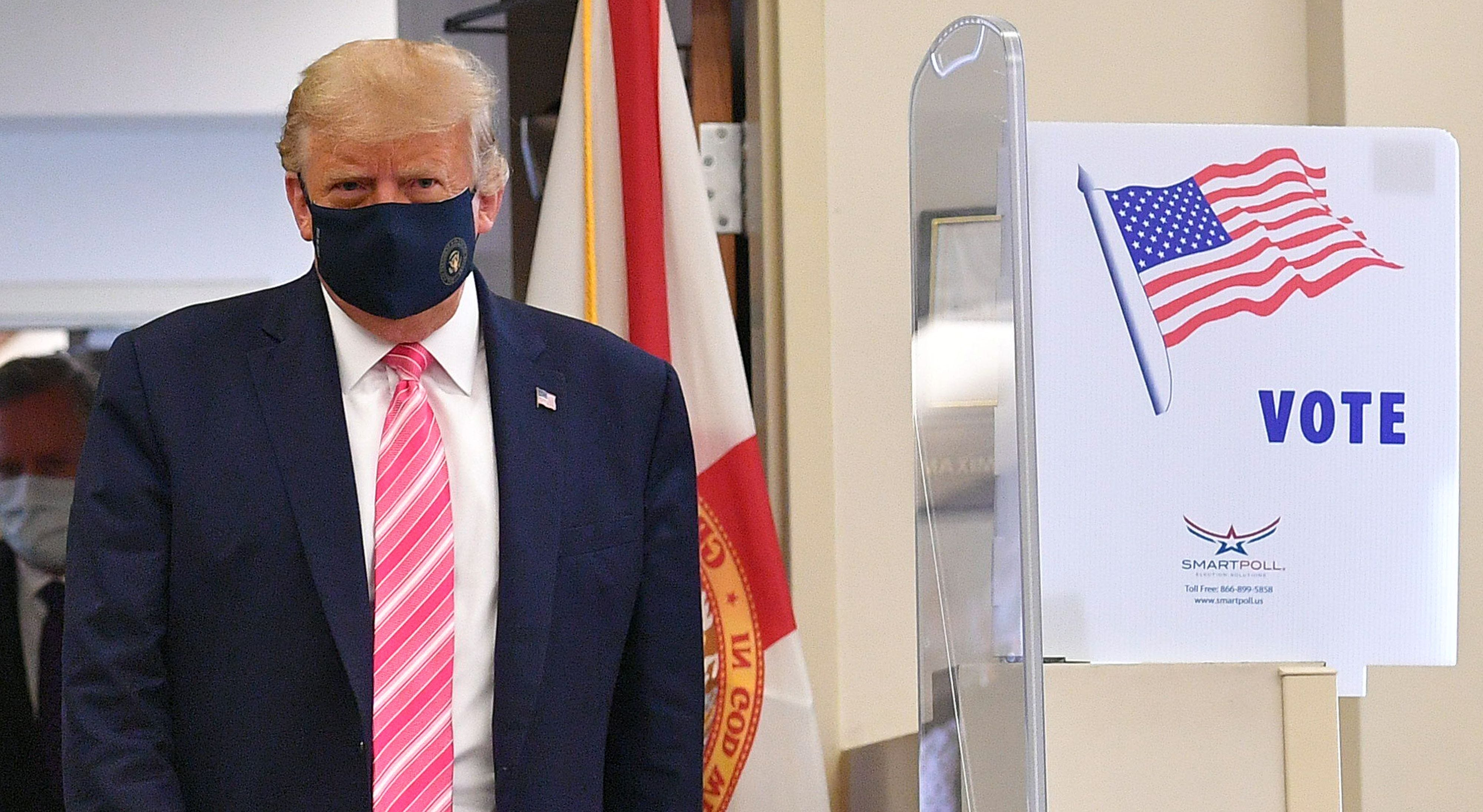 Trump casts a  very secure vote  for himself in Florida: 2020 election updates