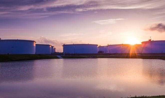 Tanks hold oil at the Cushing terminal in Oklahoma.