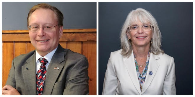 "James ""Jay"" McMahon III and state Sen. Susan Moran are running for the Plymouth and Barnstable District state Senate seat."