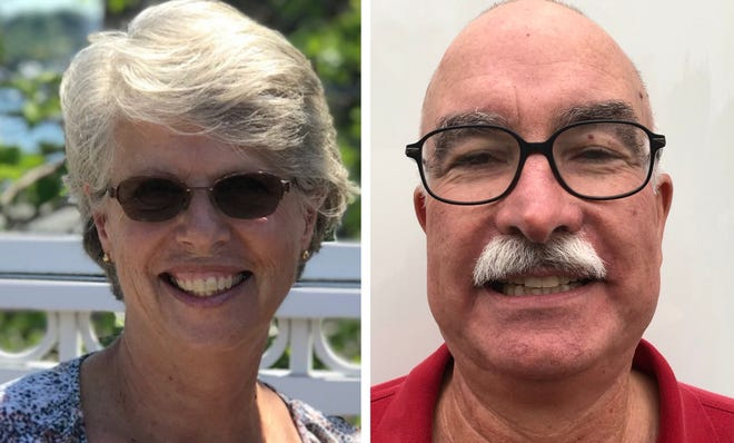 Democratic state Rep. Peg Higgins, left, is being challenged by Republican Thomas L. Kaczynski Jr. for the Strafford County District 22 seat representing Rochester Wards 1 and 6 in the New Hampshire House.
