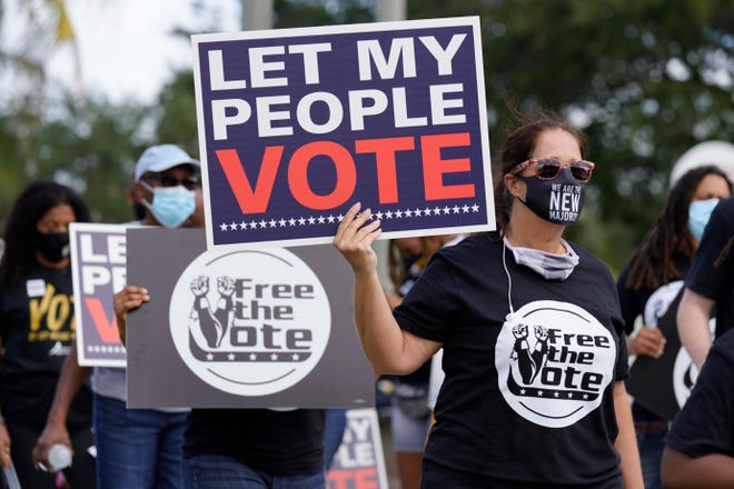 Despite efforts across the country to expand voting rights for people with felony convictions, a Marshall Project analysis of 4 key states found that none registered more than 1 in 4 eligible voters who were formerly incarcerated.