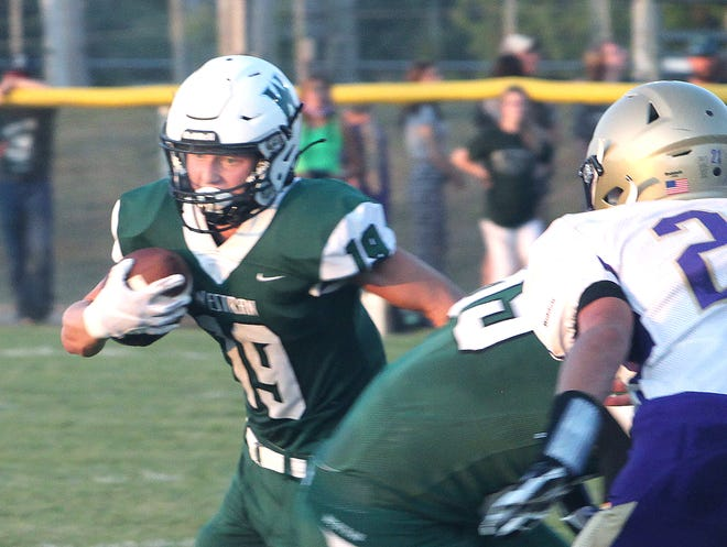 Westran junior Garrett Adler had a 16-yard run and defensively he picked off two passes to help the Class 1 10th-ranked Hornets defeat Paris 33-6.