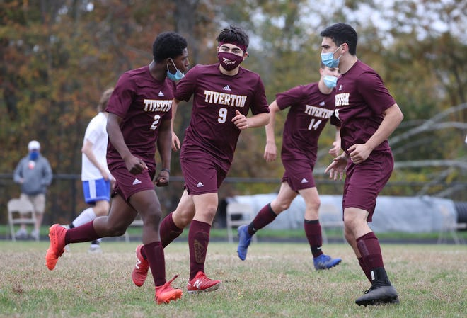 Tiverton and Middletown met in a boys soccer match on Saturday in Tiverton. The host Tigers posted a 5-1 victory.