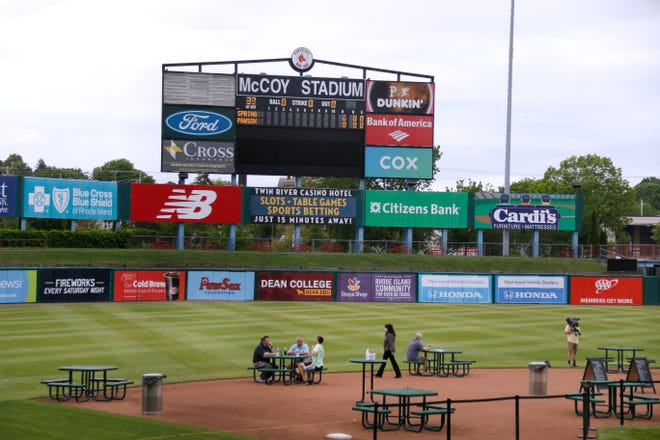 """Dining on the Diamond"" at McCoy Stadium in May, before the Pawtucket Red Sox departed for Worcester."