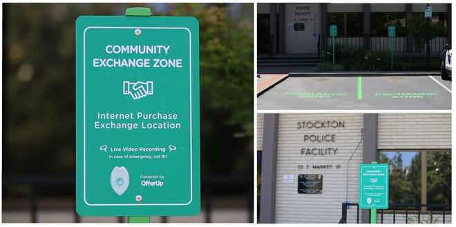 The Stockton Police Department has a Safe Exchange Zone under 24-hour video surveillance in front of its facility at 22 E. Market St. for members of the community to use anytime. Had the buyer arranged to meet here, he may have avoided being robbed and threatened.