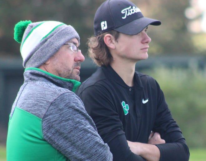 Mogadore golf coach Chris Mossa, left, and Cory Gasaway.