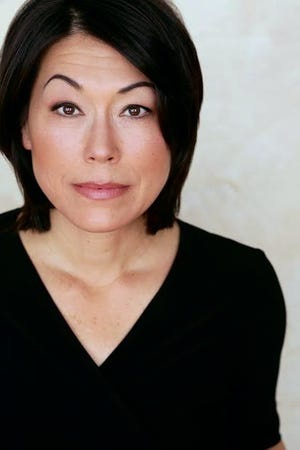 """In American Stage's digital production of """"Letters to Kamala,"""" Mia Tagano plays Patsy Mink, the first Asian-American to be elected to Congress and to run for the presidency."""