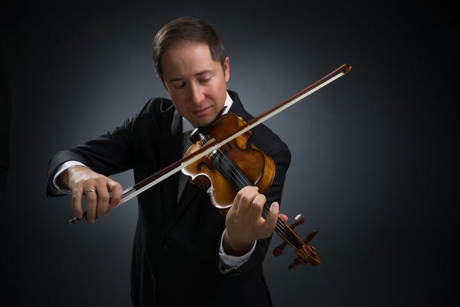 """Daniel Jordan, concertmaster of the Sarasota Orchestra, is featured in the """"Death and the Maiden"""" concert."""
