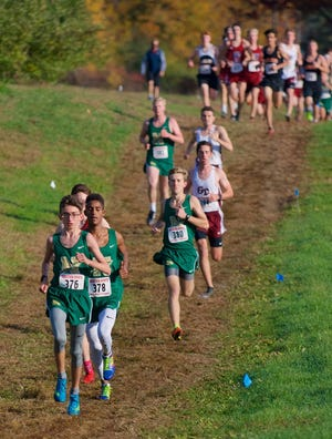 Nashoba's Freddy Collins, front, and Ailin Oberlies again led the field, this time at the Pod 5 Invitational. [Item file photo]