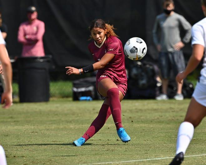 Sophomore LeiLanni Nesbeth is the Seminoles' leading scorer this season, with four goals. (Photo: FSU Athletics)