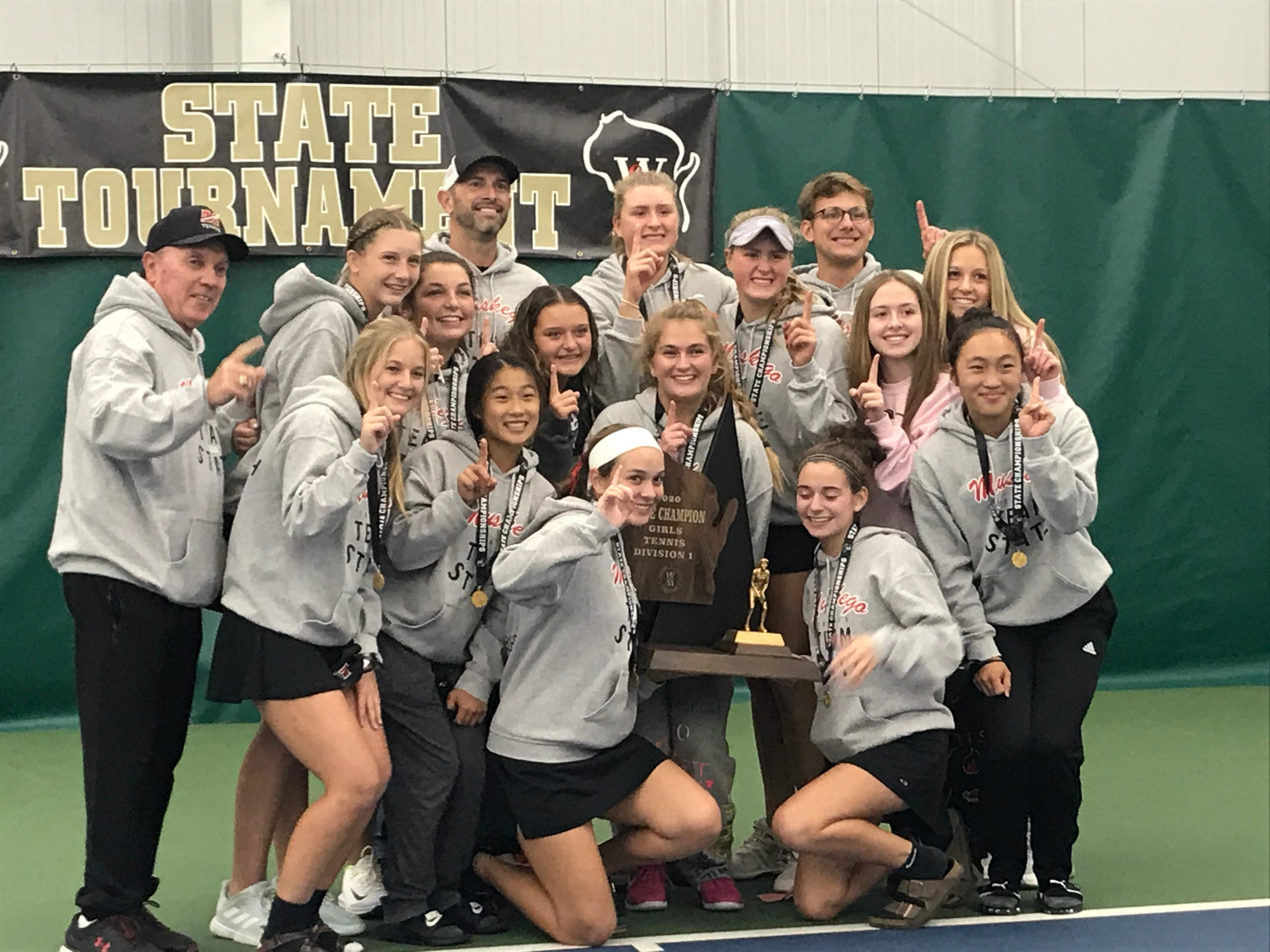 Photos: WIAA girls state team tennis tournament