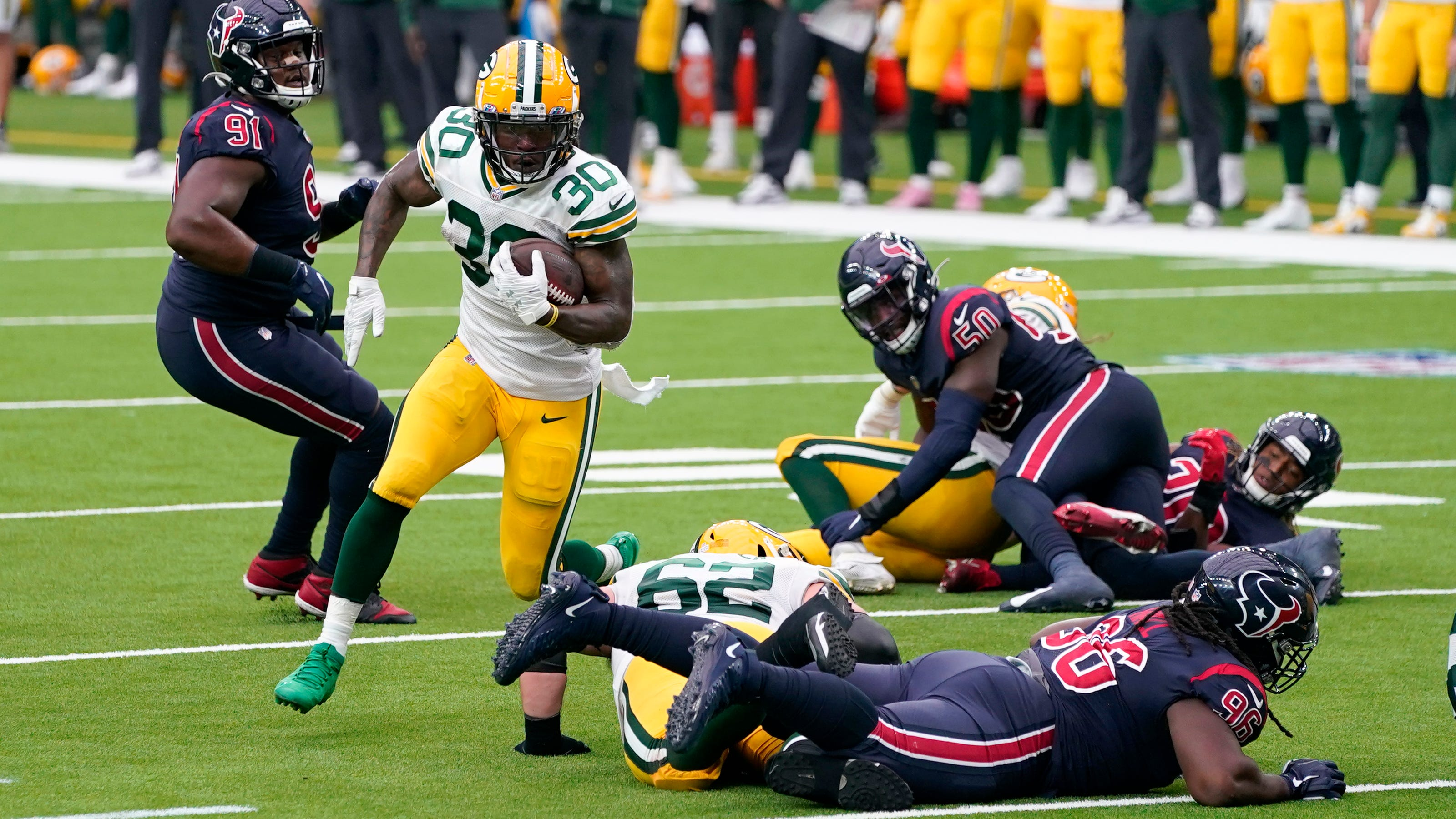 Green Bay Packers Take Their Anger And Frustration Out On Inept Texans