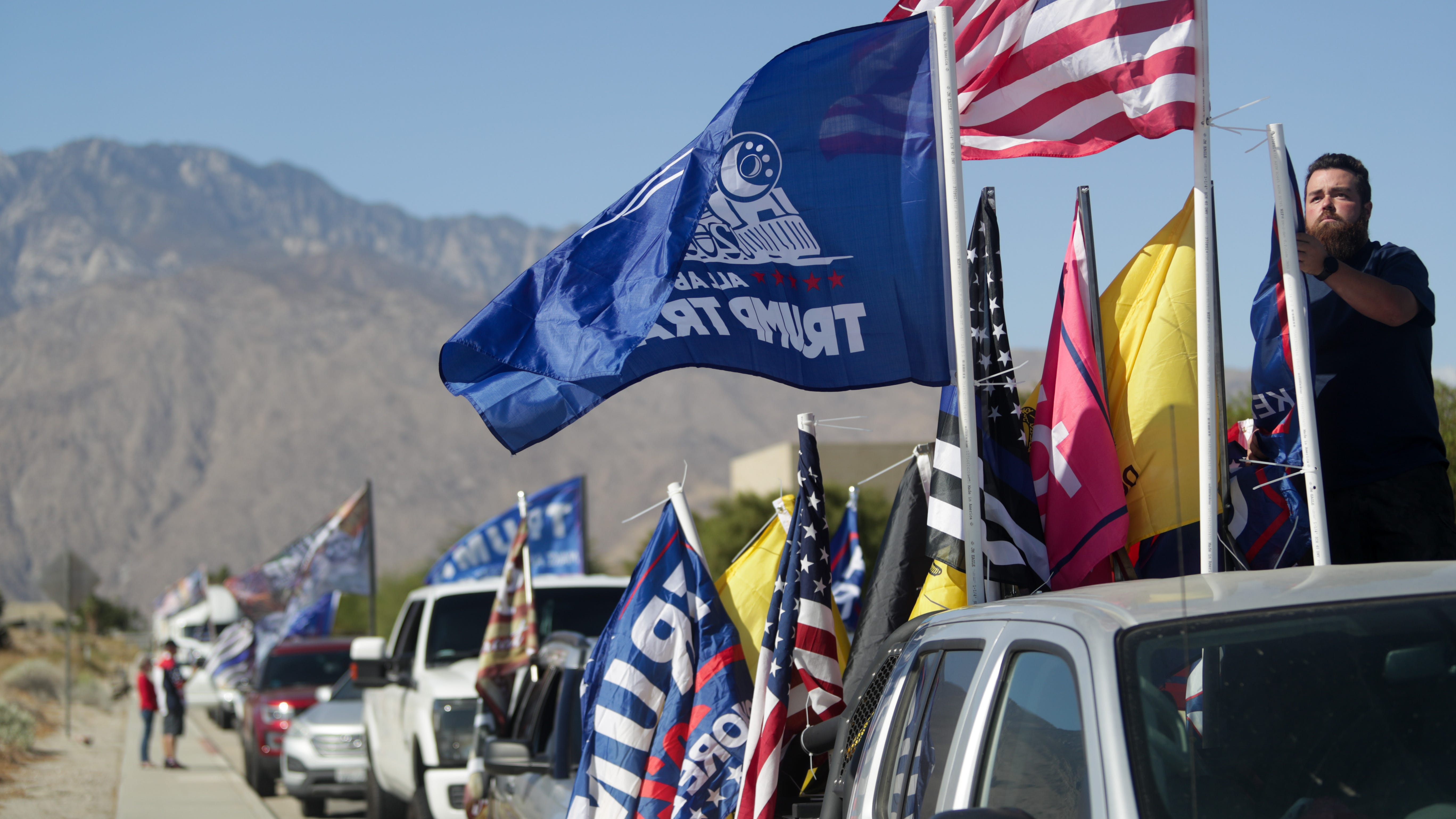 Trump supporters rally in Palm Springs, Coachella Valley