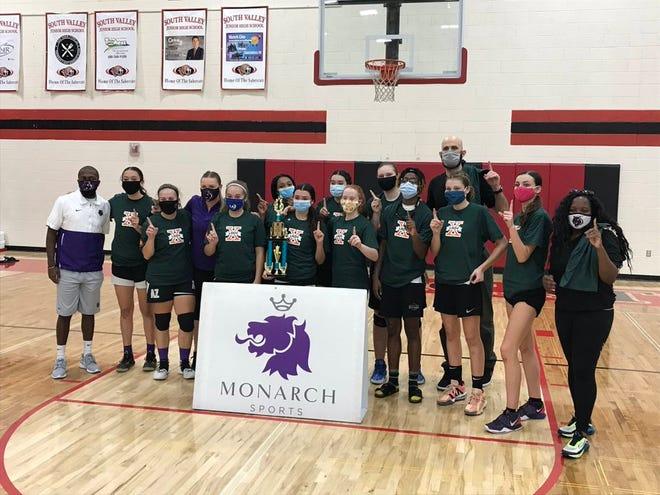 Oct. 24, 2020; Millennium wins the seventh annual Monarch Sports Lady Extravaganza high school girls basketball tournament at South Valley Junior High School in Gilbert, Ariz.