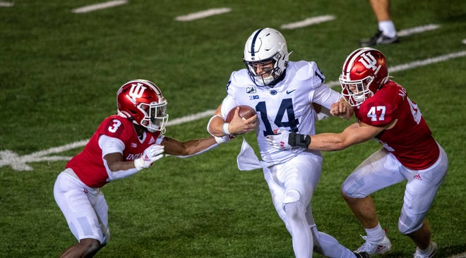 Penn State quarterback Sean Clifford accounted for 357 yards passing and running in Penn State's opener, but he also threw two first-half interceptions that led to 10 points in the 36-35 overtime loss at Indiana.