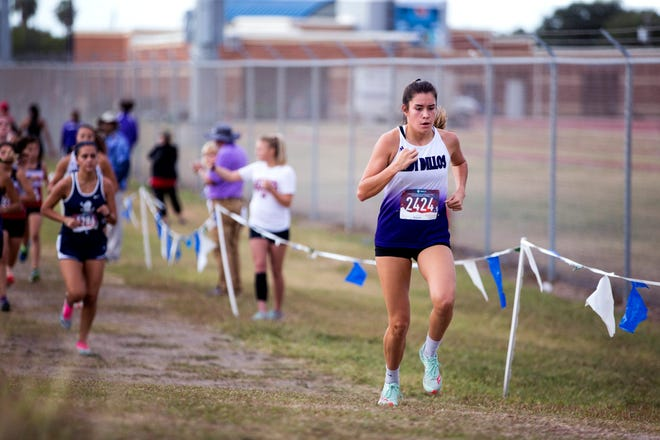 San Saba High School's Brighton Adams competes in the UIL Region IV Class 2A Championships in 2019 in Corpus Christi.