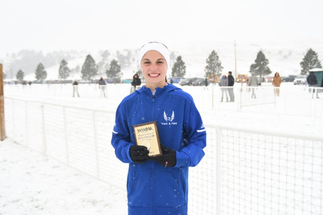 Class AA state cross country champion Alea Hardie. Hardie won her second consecutive state title on Saturday with a record-setting time of 17:58.70.
