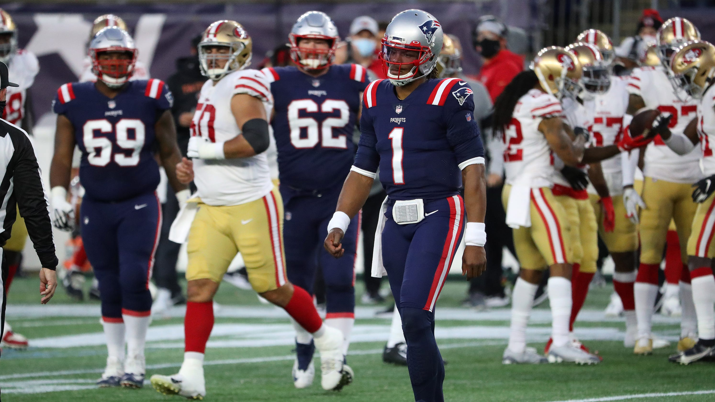 Cam Newton benched as 49ers hand Patriots worst home loss of Bill Belichick era