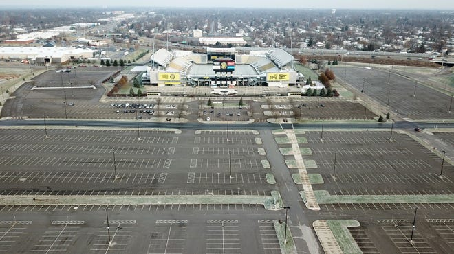 The Columbus Crew's plan to take over parking near Mapfre Stadium to build apractice stadium has been in contention for more than a year. The area is seen here in December 2018.