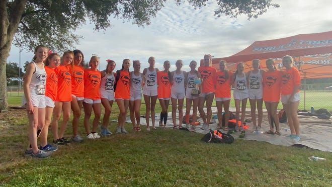 The Spruce Creek High girls cross country team won the Lary Beal COVID Cup race Saturday, Oct. 24, 2020, in DeLand
