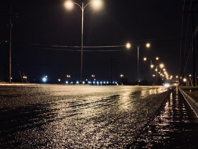 A potent Arctic cold front created icy conditions on Lubbock area roadways Monday morning.