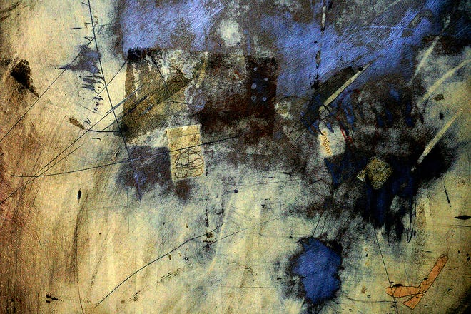 """""""Driven to Abstraction"""" features """"Abstract Blue and Gold"""" and other works by photographer Betsy Phillips."""