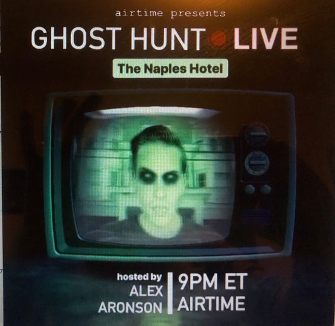 "Alex Aronson promotes ""Ghost Hunt Live"" featuring the Naples Hotel"