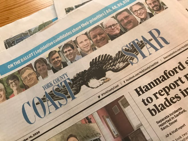 """The York County Coast Star won top honors in the """"general excellence"""" category from the Maine Press Association in 2020, for the second year in a row."""