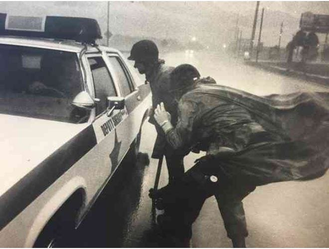 1985's Hurricane Kate made landfall in Florida's Panhandle as a Category 2 storm on Nov. 21. This archived image was taken in Panama City. [File photo]