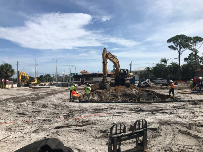 Construction is underway on the Circle K property along Indiantown Road in Jupiter on Oct. 5, 2020.
