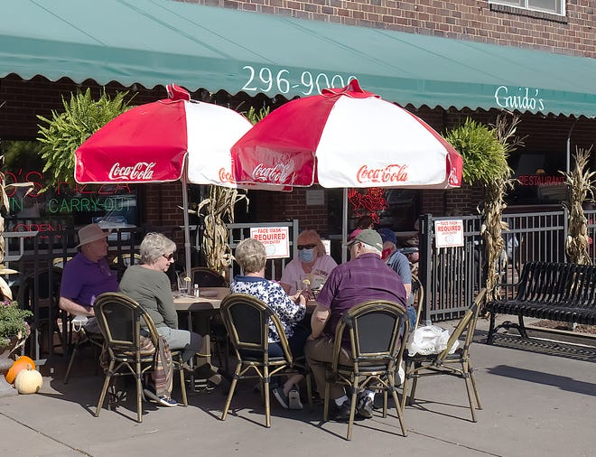 Dining outdoors was still possible late last week Guido's in Ravenna, and, although the restaurant's doing well thanks to its carry-out service and catering, Guido's General Manager Scott Hutchinson is a bit concerned about what the end of outdoor dining. may mean.