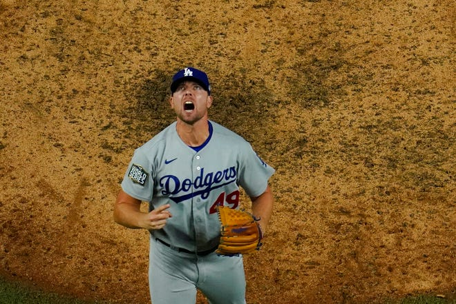 The Los Angeles Dodgers can win the World Series title with a Game 6 victory against the Tamp Bay Rays on Tuesday. (AP Photo/David J. Phillip)