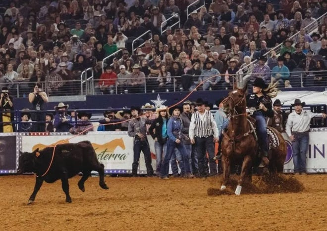 Jackie Crawford is among the top competitors in heading. Crawford is set to compete in the upcoming Women's Rodeo World Championships scheduled for next month in Fort Worth.