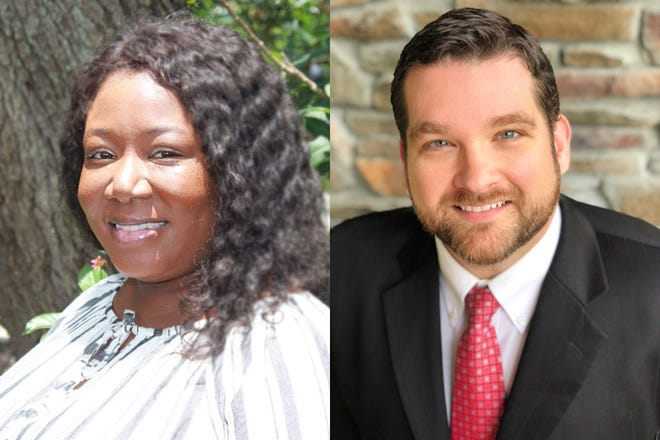 Democrat Dominique Brown and Republican James Satcher are competing for the Manatee County Commission seat in District 1.