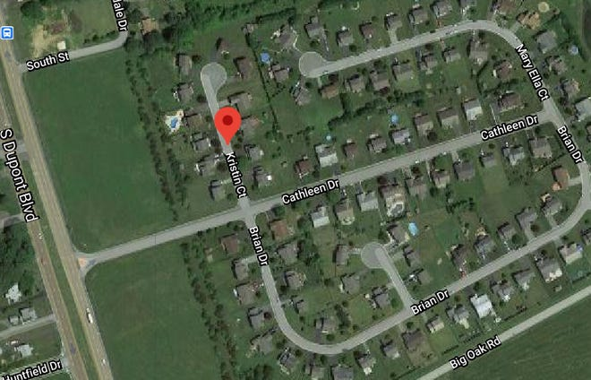Delaware State Police said a bullet was fired at a home on Kristin Court just south of Smyrna town limits.