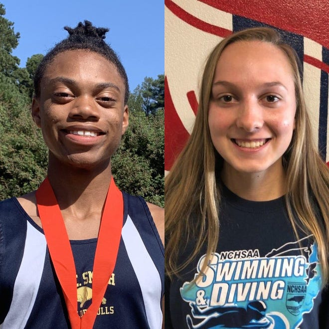 E.E. Smith's Octavious Smith, left, and Terry Sanford's Rainger Pratt are the reigning runners of the year in the Patriot 4-A/3-A Conference.