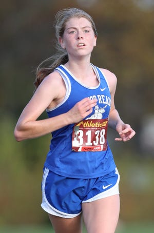 Junior Addison Whitmer led the Ready girls cross country team in the Division III, district 2 meet Oct. 23 at Hilliard Darby, finishing 28th in 22:54.3.