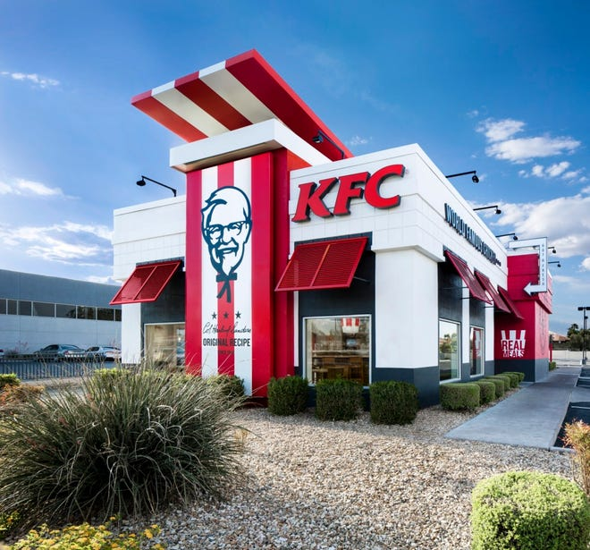 An American Showman model Kentucky Fried Chicken restaurant. KBP Foods will open its newly rebuilt KFC at 1405 Capital Ave. on Tuesday.